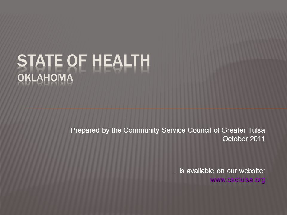 Prepared by the Community Service Council of Greater Tulsa October 2011 …is available on our website: