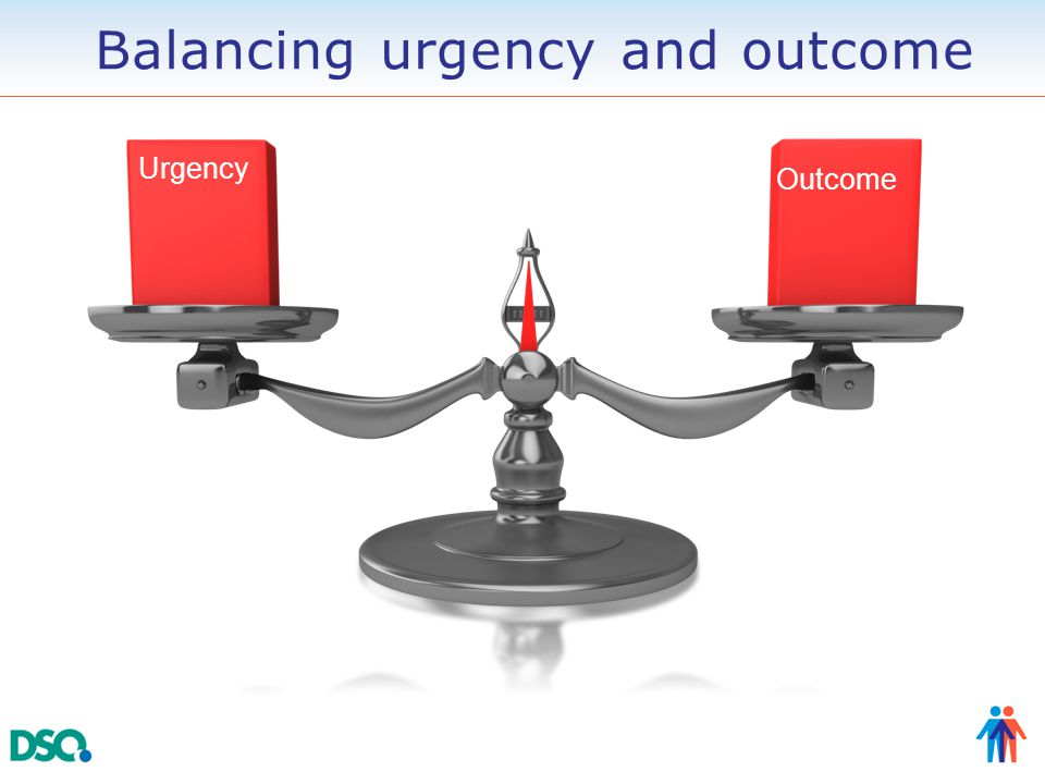 Urgency Outcome Balancing urgency and outcome