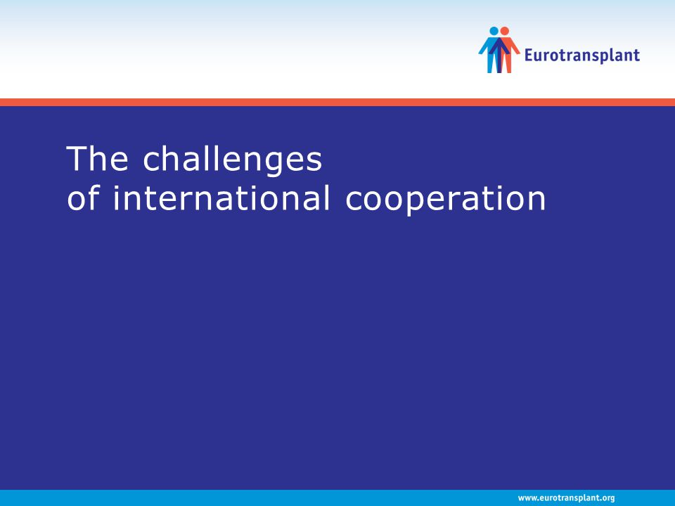 The challenges of international cooperation