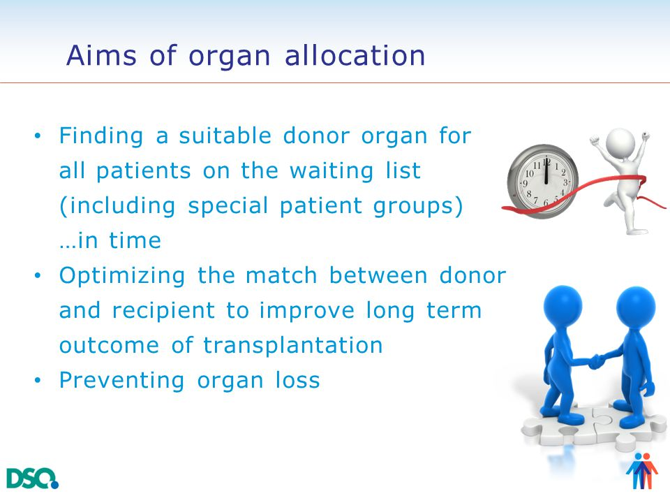 Requirements for an organ allocation system Objectivity ■ Allocation is independent of subjective factors (procurement and allocation organization, transplant center) Reliability ■ With same donor information and same waiting list information an identical matchlist is generated Transparency and accountability ■ Every step in the allocation process is documented and can be explained Validity of allocation criteria ■ Ethically acceptable, medically based ET office ET AC