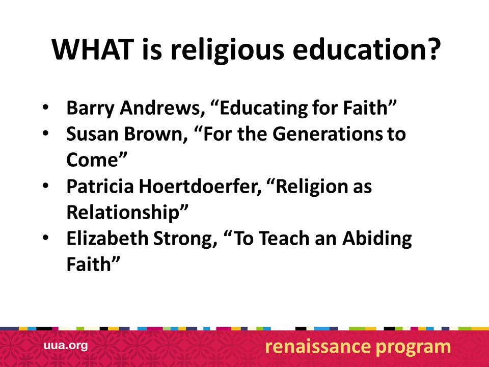 WHAT is religious education.
