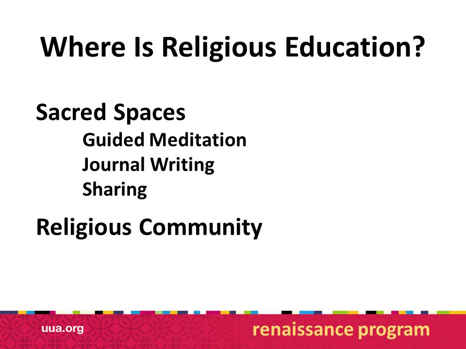 Where Is Religious Education.