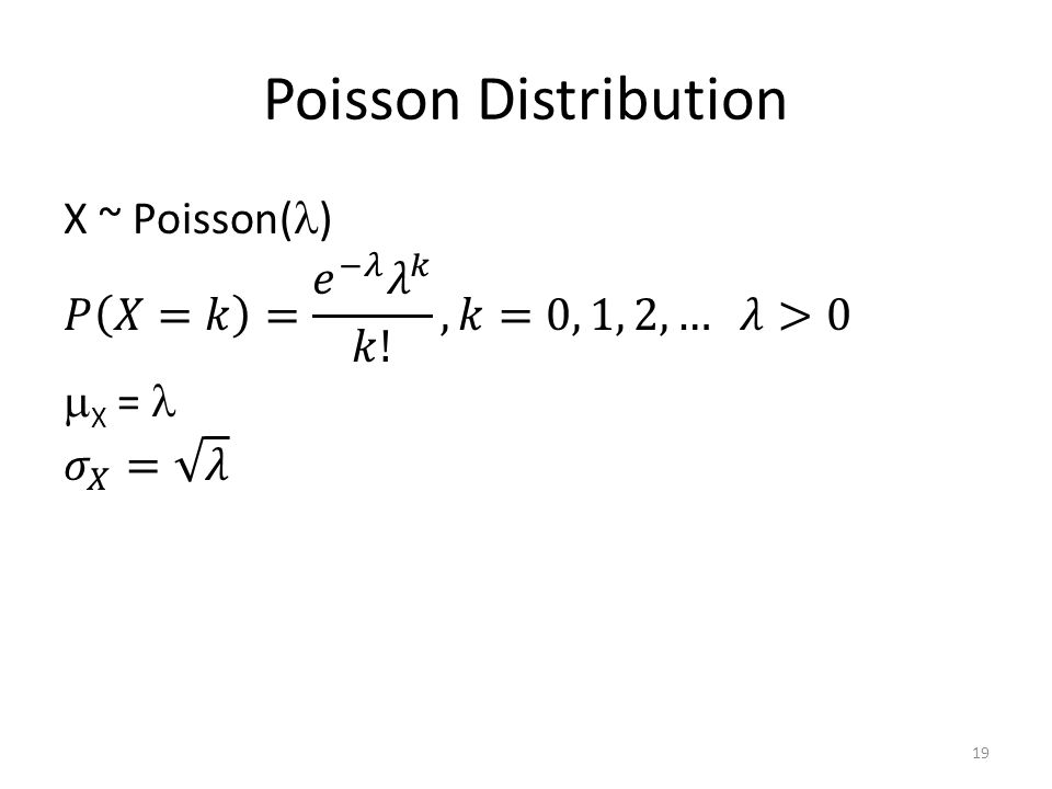 Poisson Distribution 19