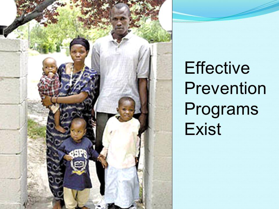 Effective Prevention Programs Exist