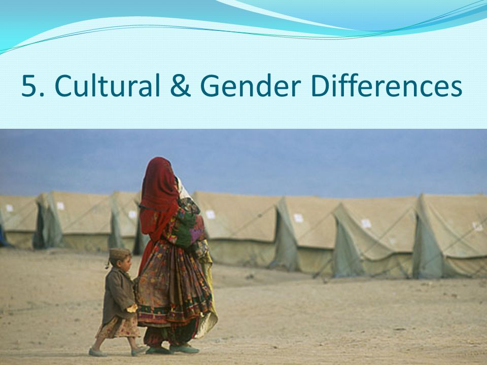 5. Cultural & Gender Differences
