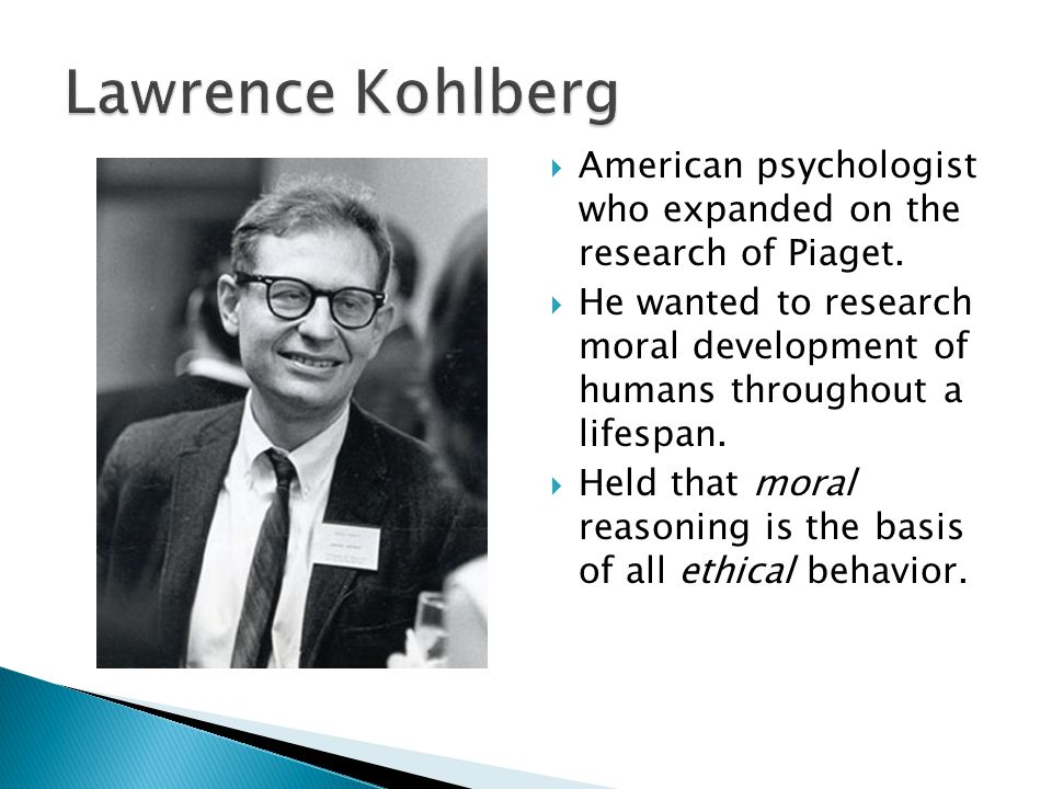  Kohlberg divided this process of moral development into 6 steps.