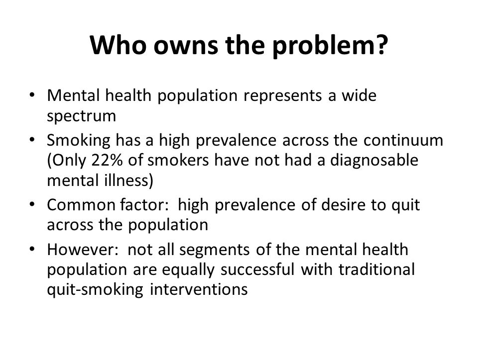 Who owns the problem.