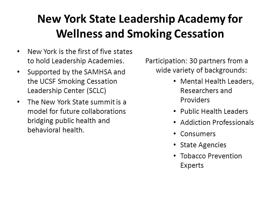 New York is the first of five states to hold Leadership Academies.