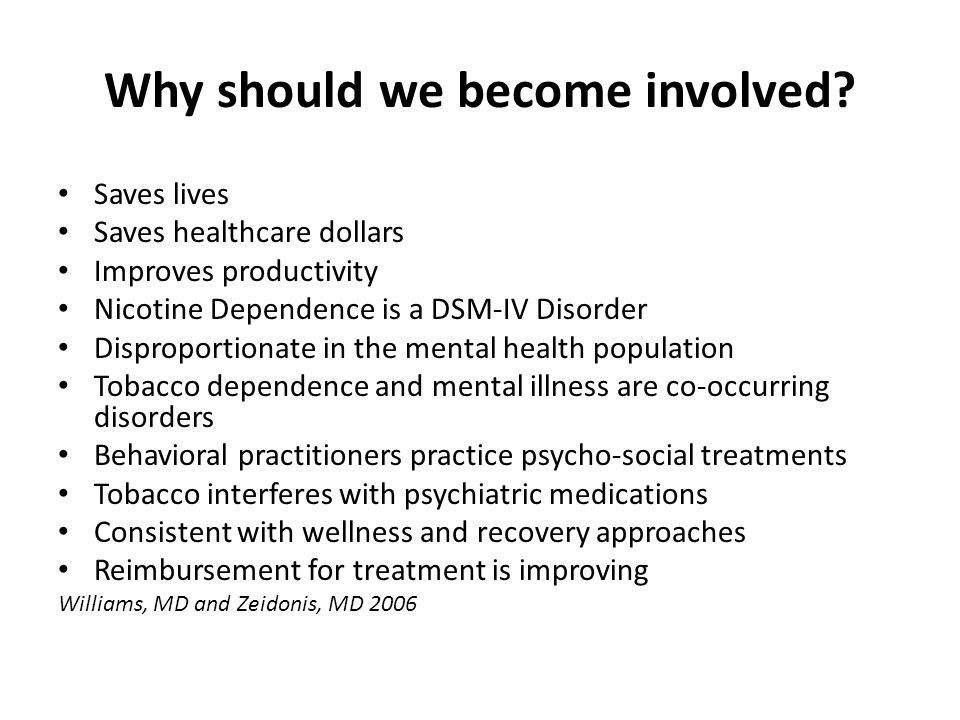 Why should we become involved.