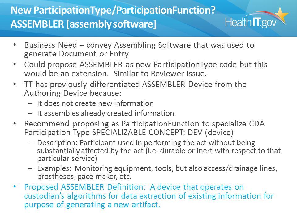 New ParticipationType/ParticipationFunction.