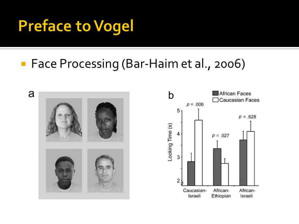  Face Processing (Bar-Haim et al., 2006)