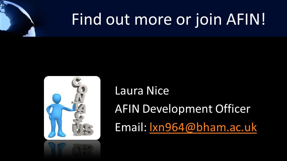 Find out more or join AFIN.