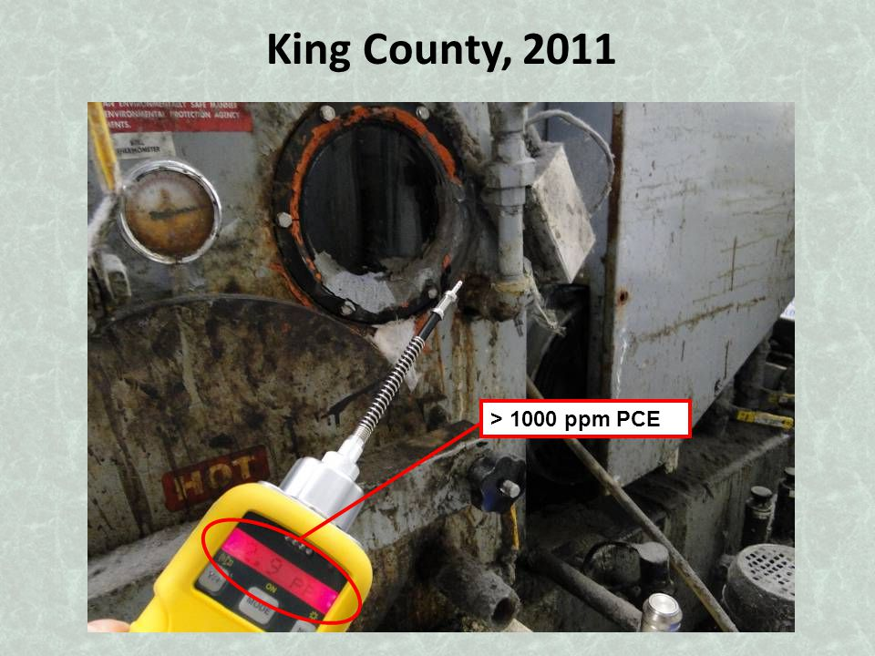 King County, 2011 > 1000 ppm PCE
