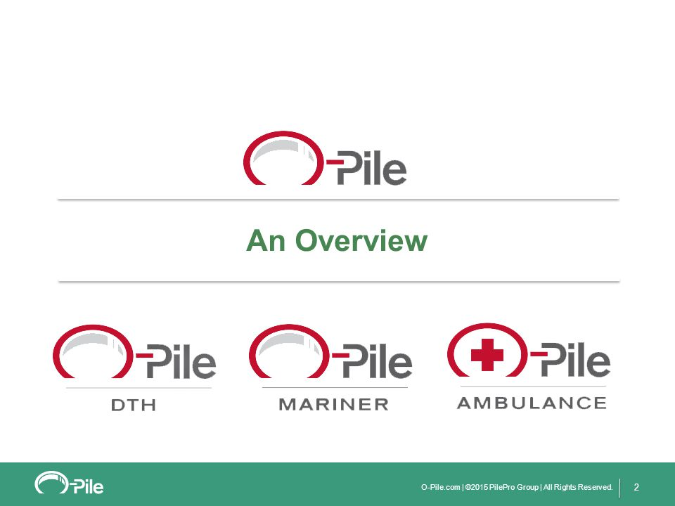 3 O-Pile is a leader in predictable, quantifiable retaining wall systems that can be driven in all soil conditions.