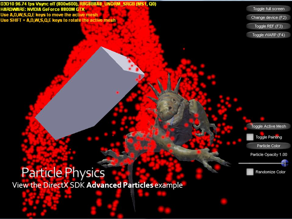 View the DirectX SDK Advanced Particles example