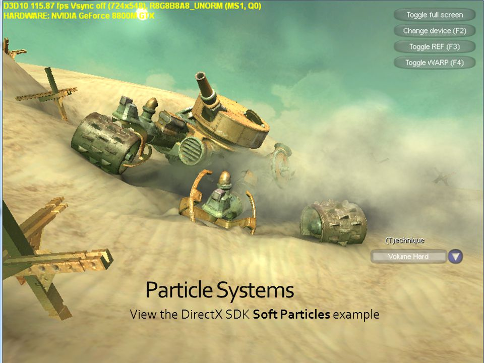 View the DirectX SDK Soft Particles example