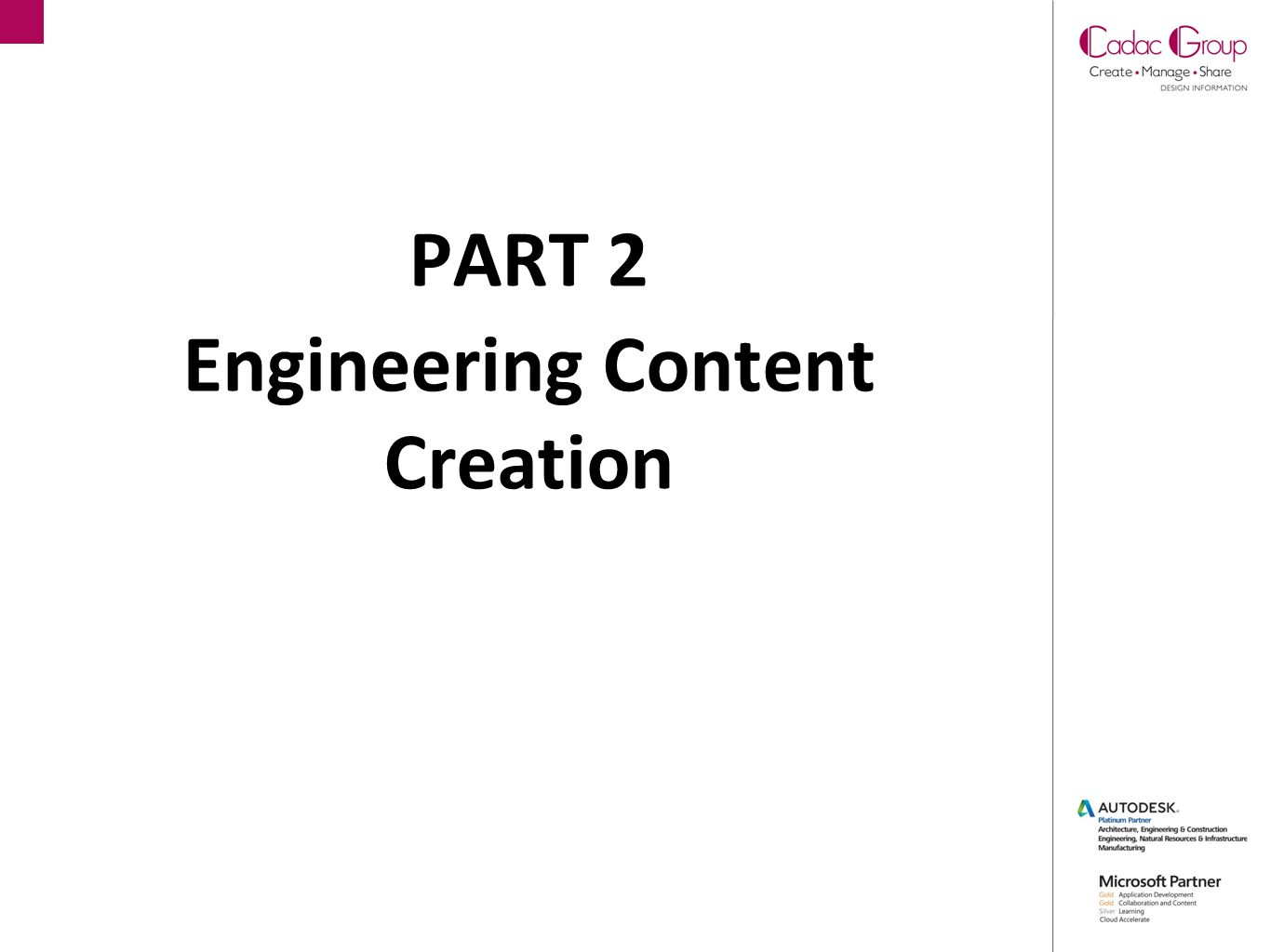 PART 2 Engineering Content Creation