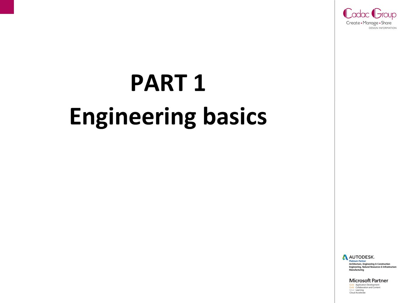PART 1 Engineering basics