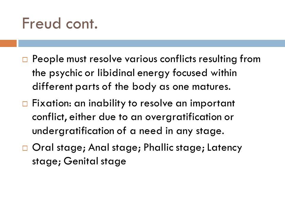 Freud cont.