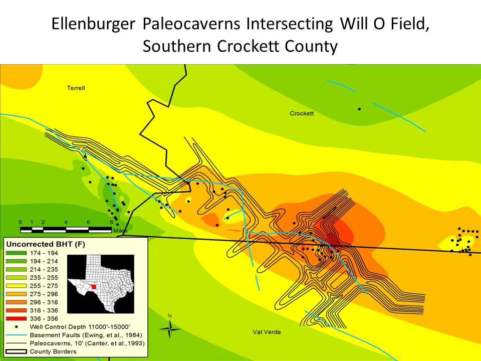 Ellenburger Paleocaverns Intersecting Will O Field, Southern Crockett County