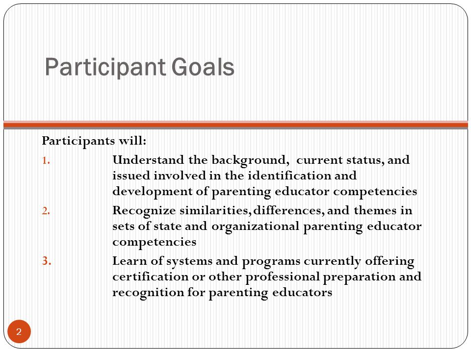 Examples of Parenting Educator Professional Preparation & Recognition Systems (continued) 33 3.