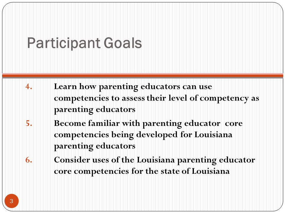 Participant Goals 4.