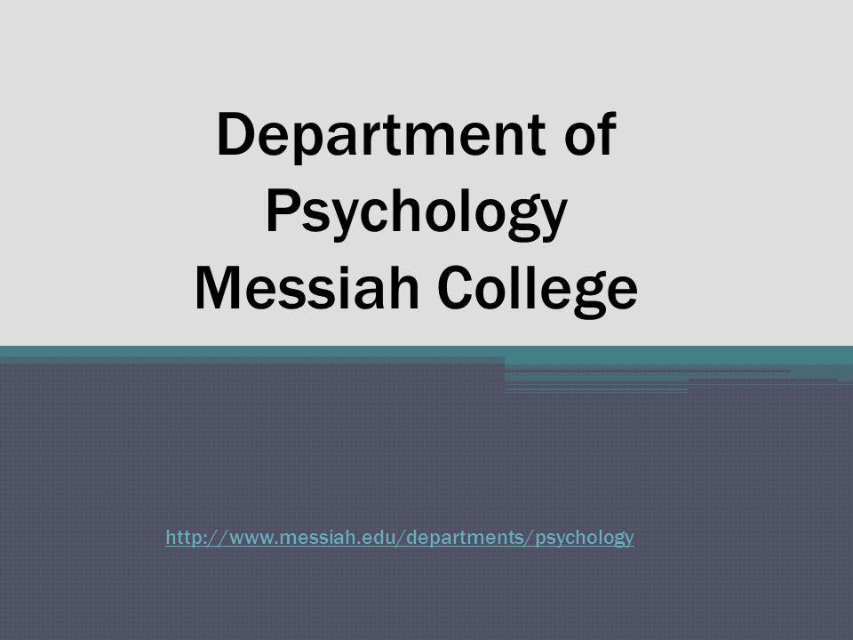 Psychology at Messiah College Alumni Profile J.R.Nissley, Psy.D.