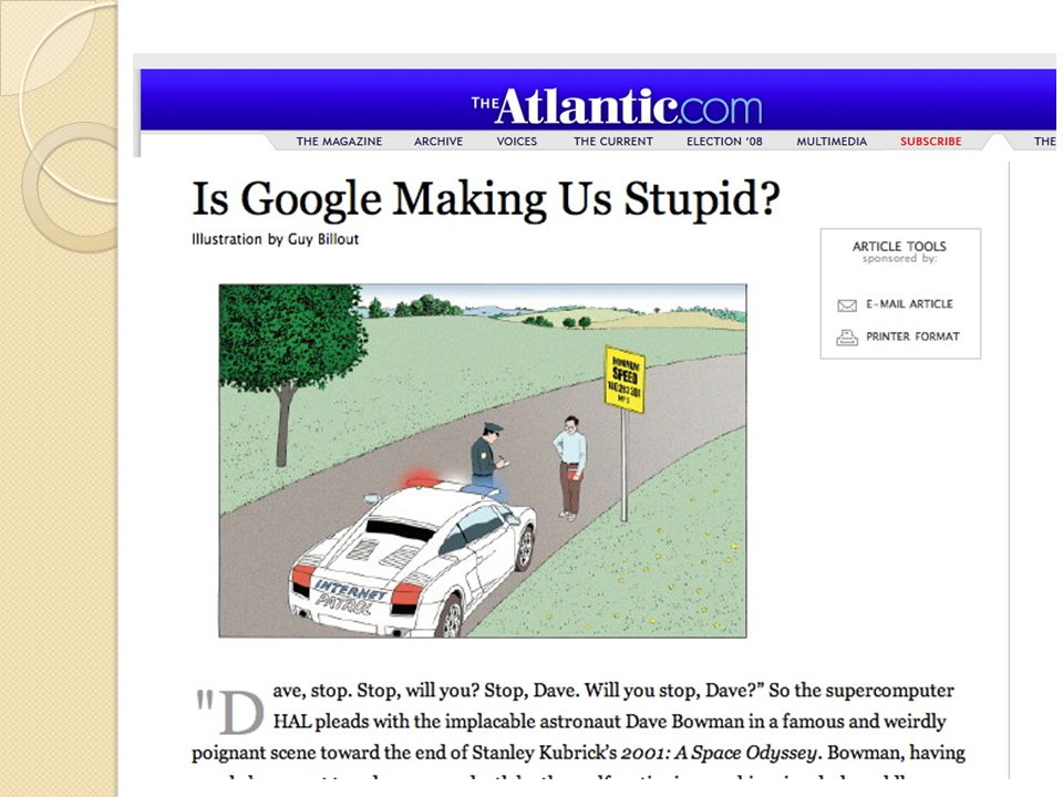 Is Google Making Us Stupid