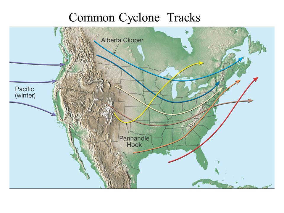 Common Cyclone Tracks