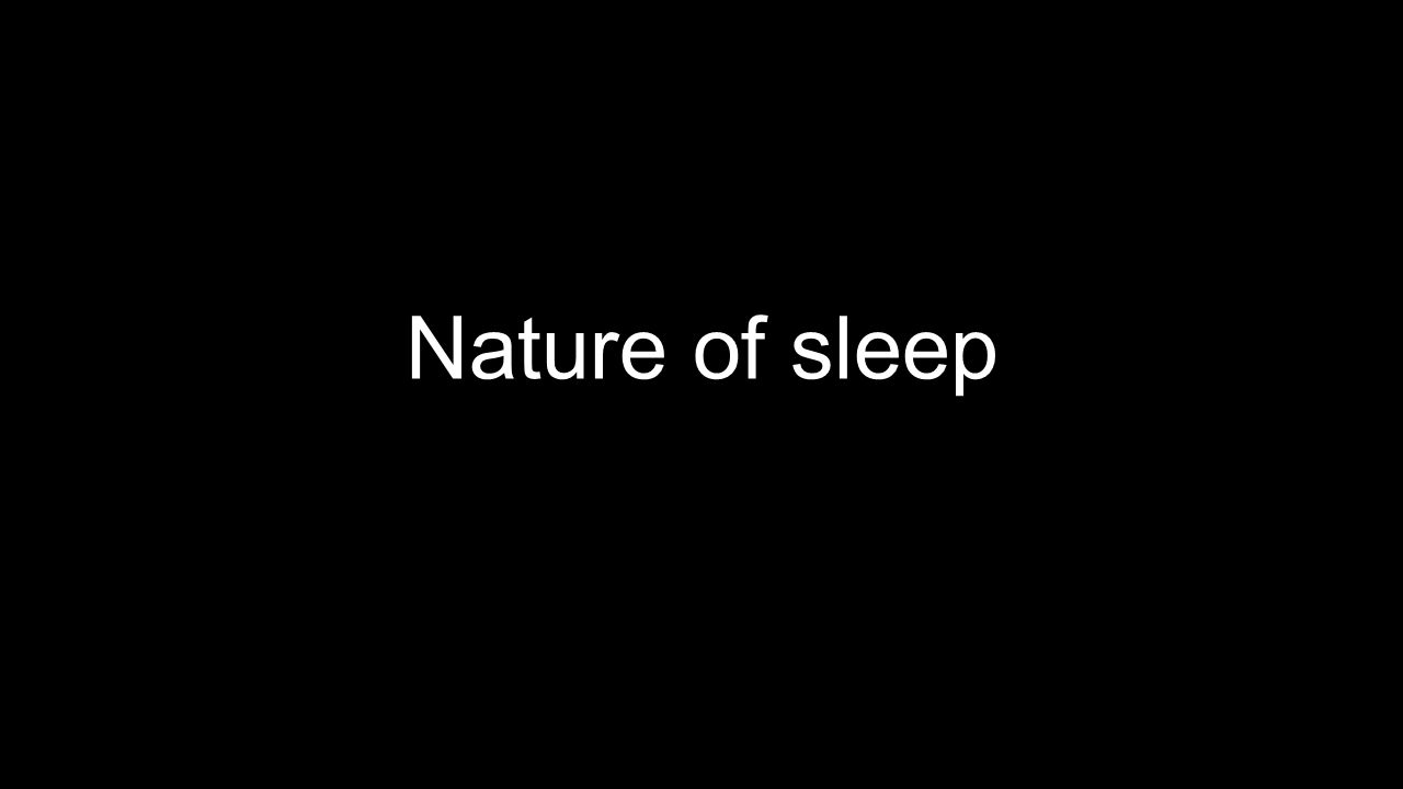 Nature of sleep