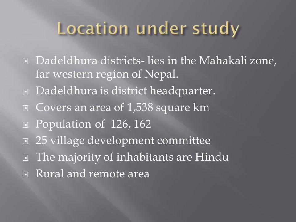  Dadeldhura districts- lies in the Mahakali zone, far western region of Nepal.