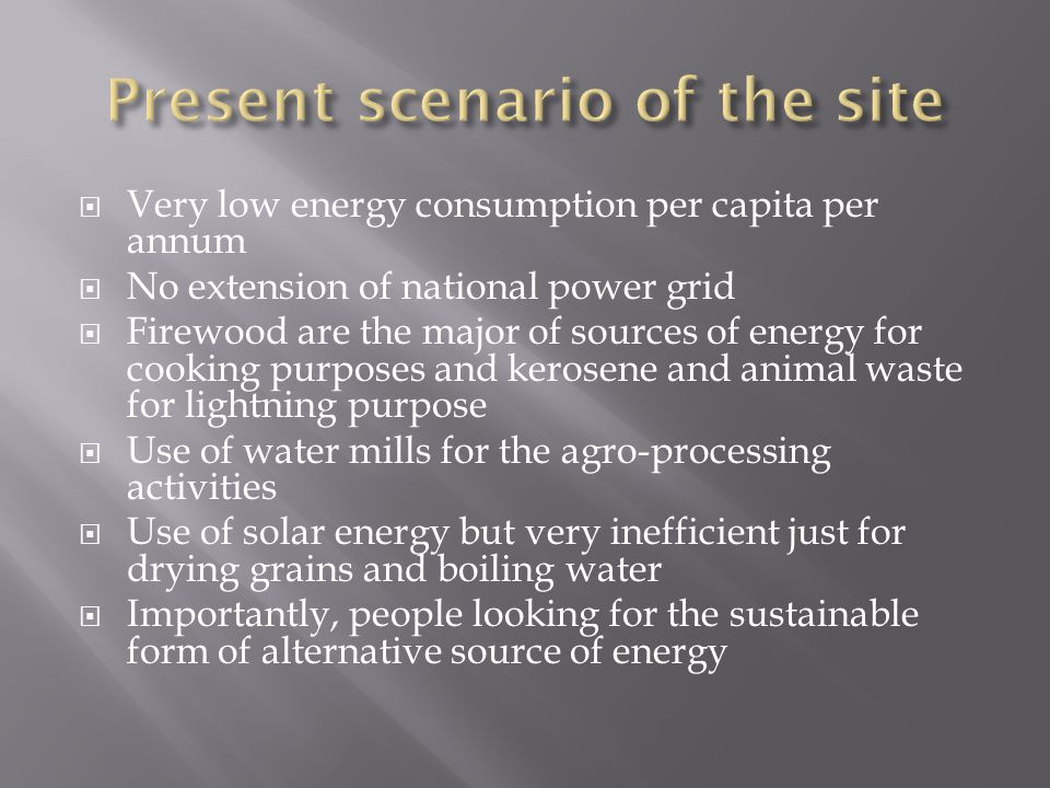  Energy supplies to the masses. Creating livelihood.