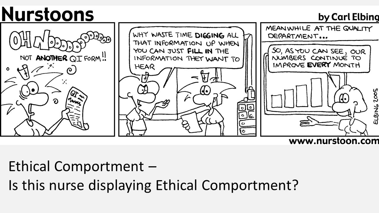 Ethical Comportment – Is this nurse displaying Ethical Comportment?