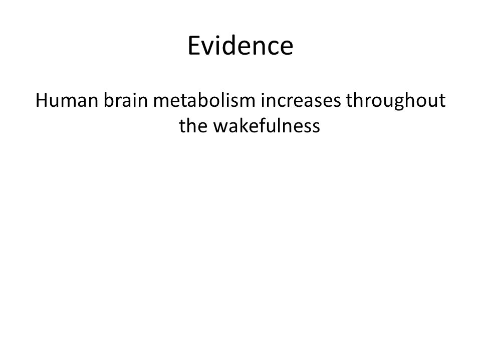 Evidence Human brain metabolism increases throughout the wakefulness