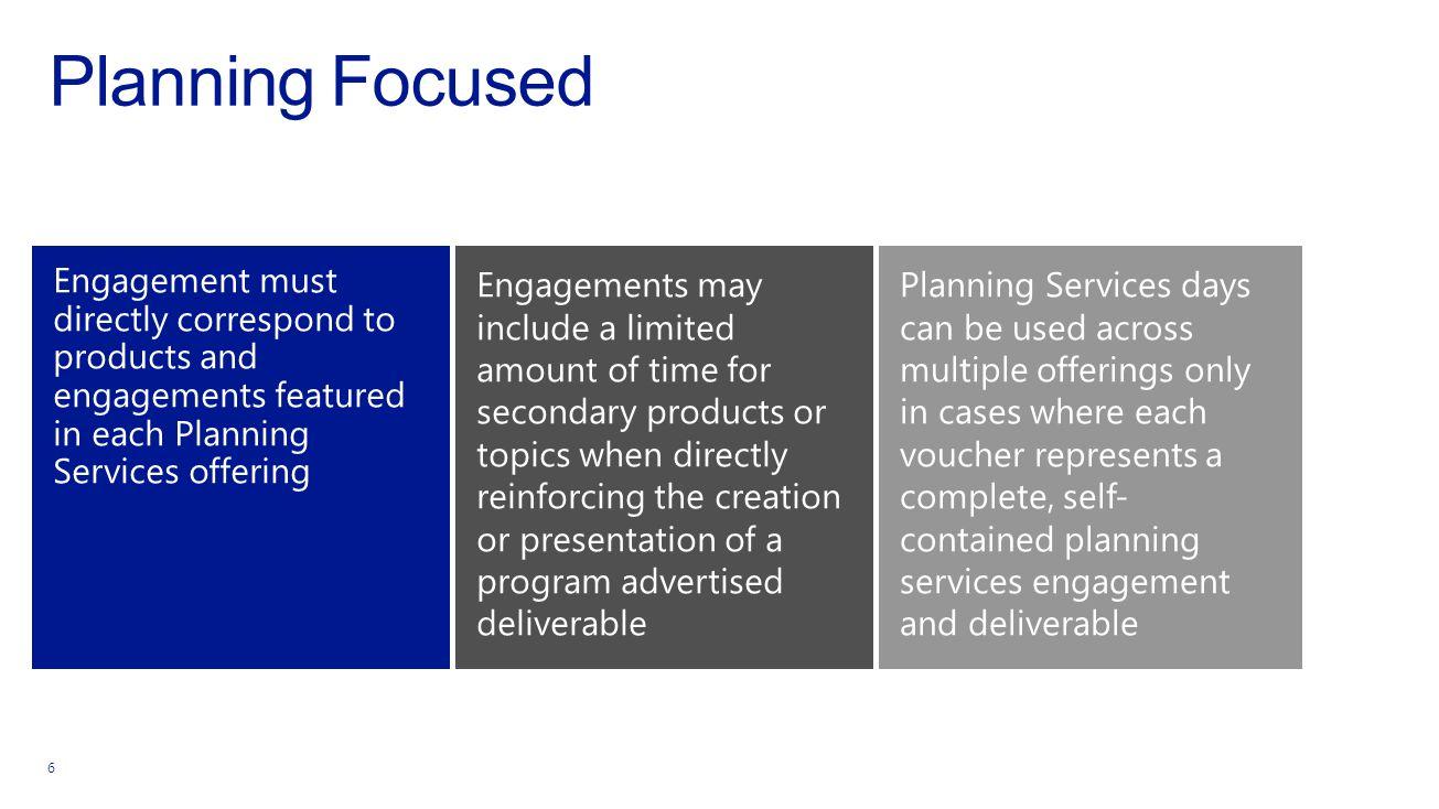 Planning Focused 6