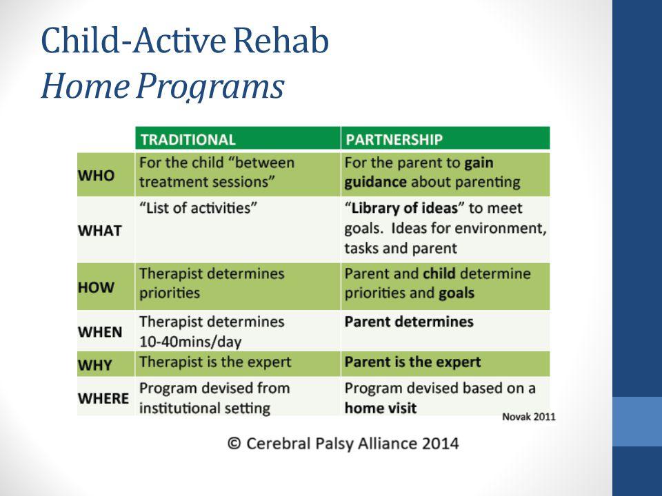 Child-Active Rehab Home Programs