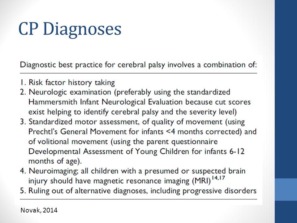 CP Diagnoses Novak, 2014