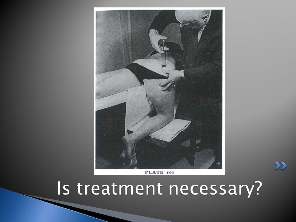 Is treatment necessary Is treatment necessary