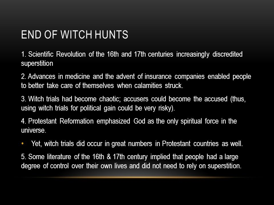END OF WITCH HUNTS 1.
