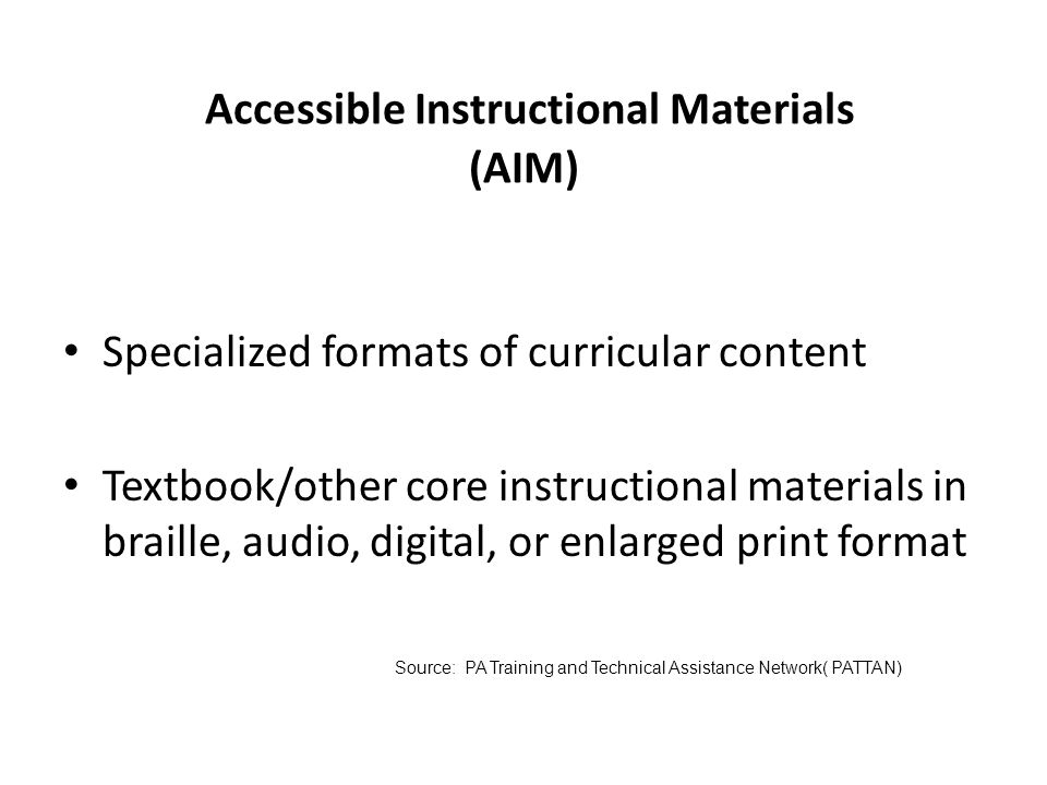 14 Specially Designed Instruction Specially designed instruction means adapting, as appropriate to the needs of an eligible child, the content, method
