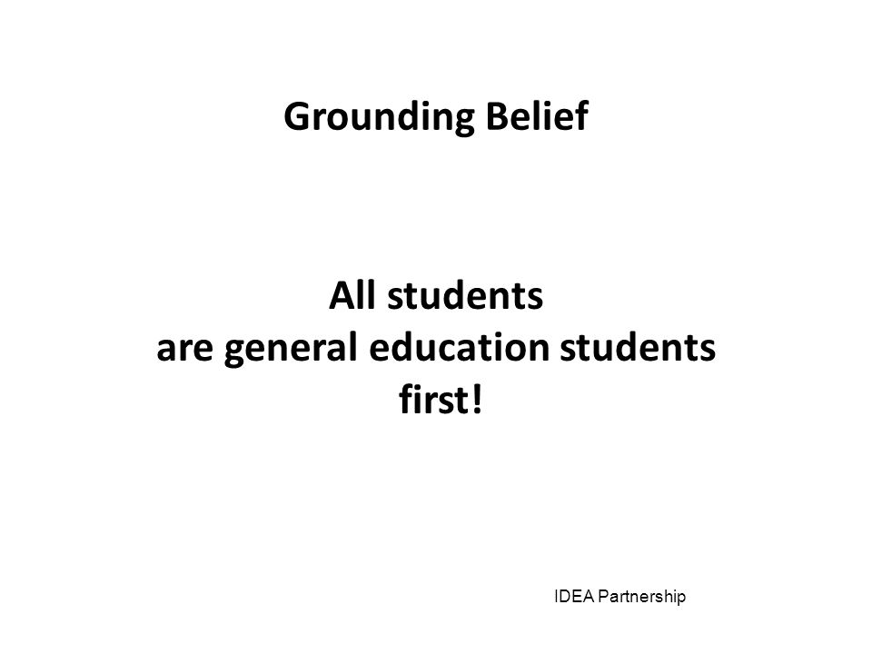 Free Appropriate Public Education (FAPE) across the Years First Focus Physical Access Procedural Safeguards/Due Process Least Restrictive Environment