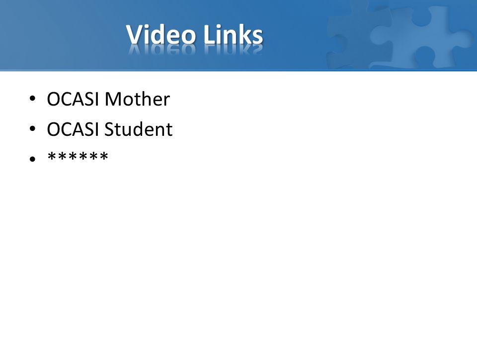 OCASI Mother OCASI Student ******