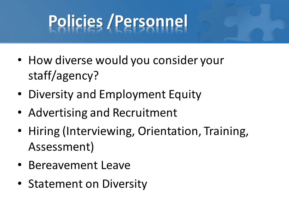How diverse would you consider your staff/agency.