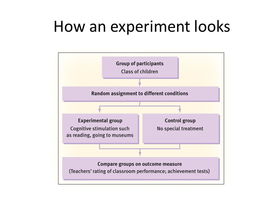 How an experiment looks