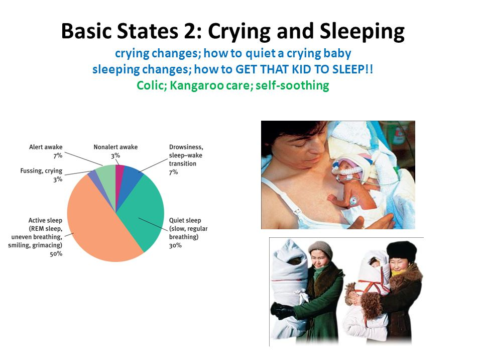 Basic States 2: Crying and Sleeping crying changes; how to quiet a crying baby sleeping changes; how to GET THAT KID TO SLEEP!.