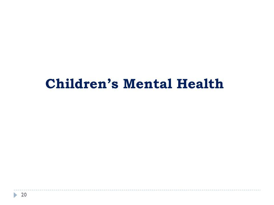 20 Children's Mental Health
