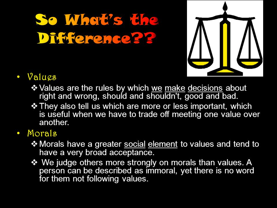 We may hold certain values, but do not always show them in our attitude and behavior.