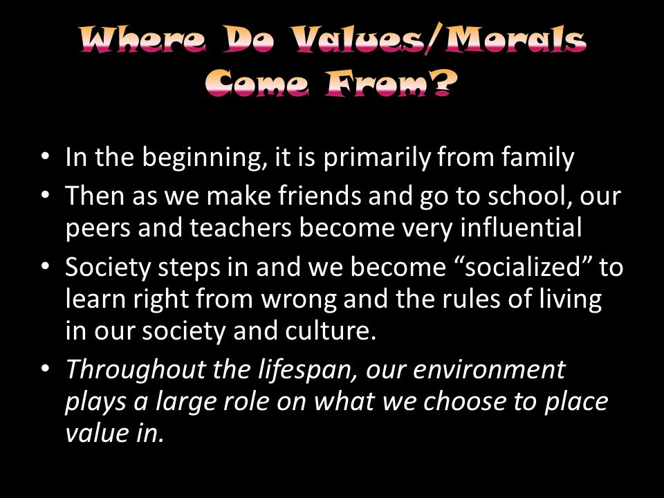 When our personal values conflict with the norm or expected values of a situation.