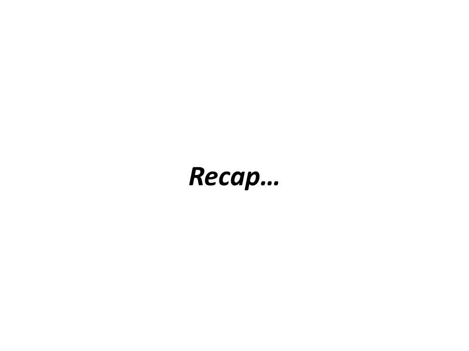 Recap…