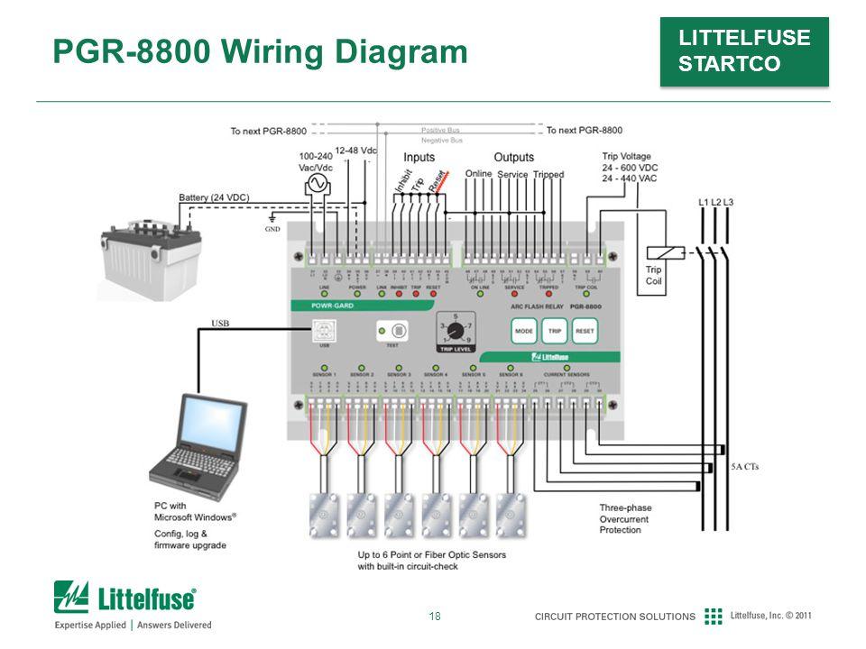 18 LITTELFUSE STARTCO PGR-8800 Wiring Diagram